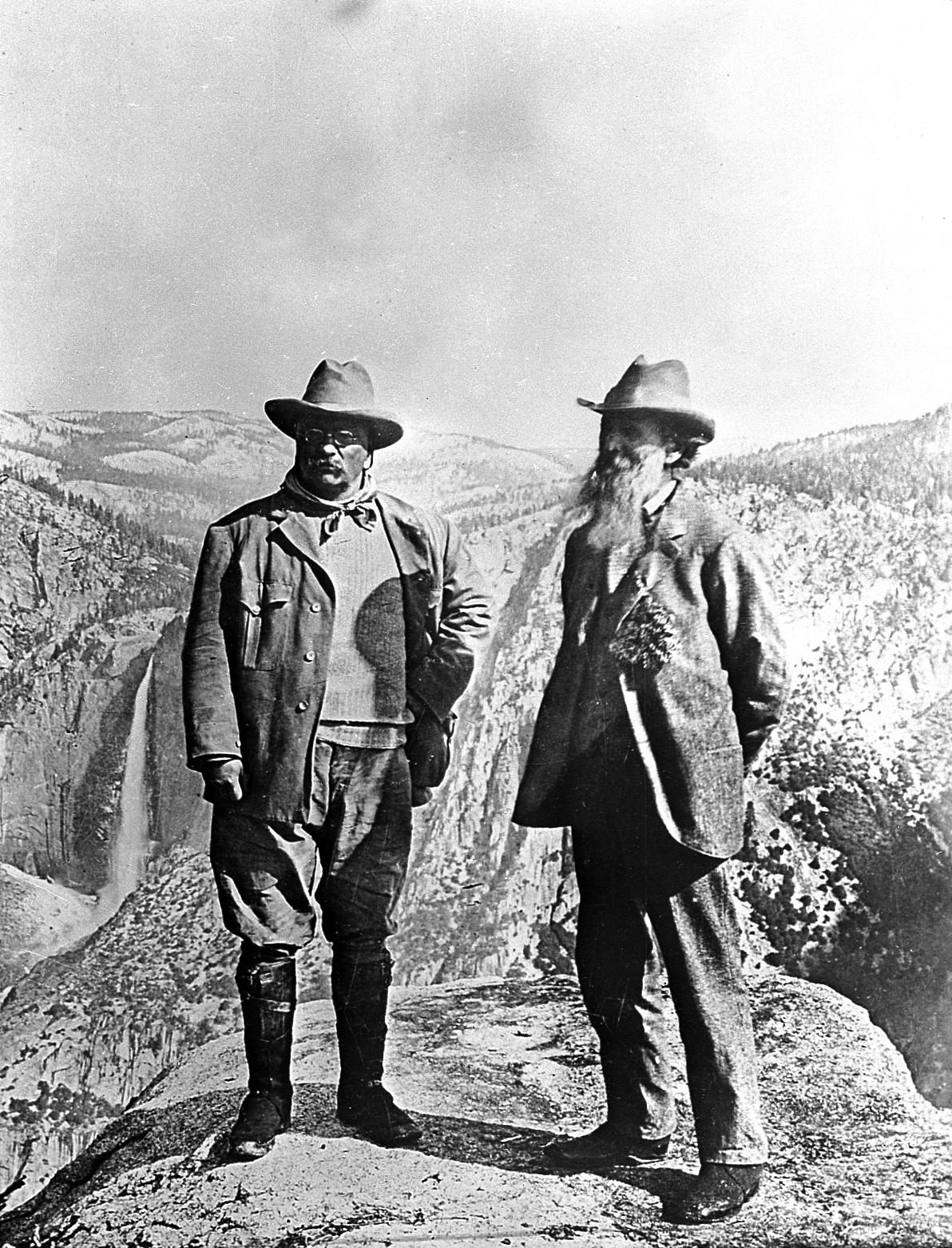 President Theodore Roosevelt and Naturalist John Muir