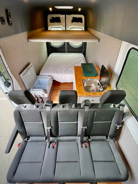 This family van has so much space, it fits a kitchen!